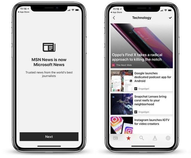 MSN资讯改名微软新闻 已经登陆安卓和iOS